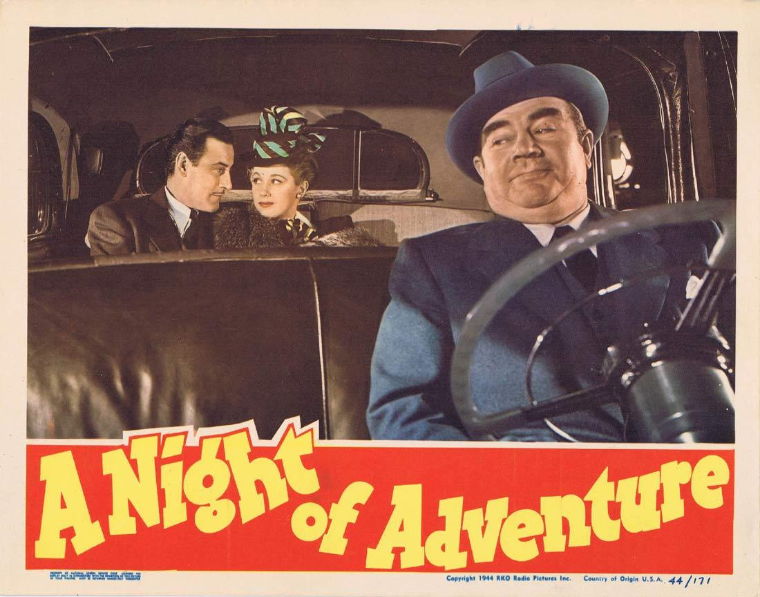 A NIGHT OF ADVENTURE Lobby Card 7 Tom Conway Audrey Long
