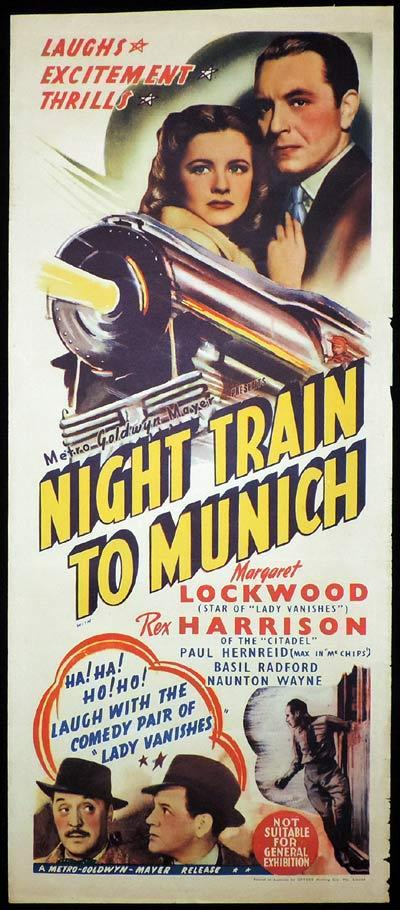 NIGHT TRAIN TO MUNICH Long Daybill Movie poster 1940 Margaret Lockwood Rex Harrison