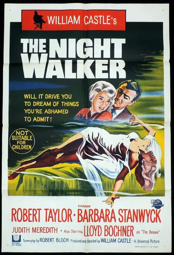 THE NIGHT WALKER One Sheet Movie Poster Robert Taylor Barbara Stanwyck