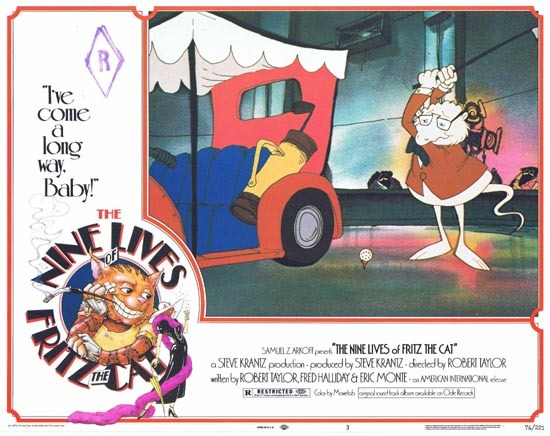 THE NINE LIVES OF FRITZ THE CAT 1974 Lobby Card 3
