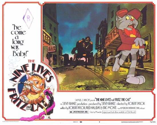 THE NINE LIVES OF FRITZ THE CAT 1974 Lobby Card 4