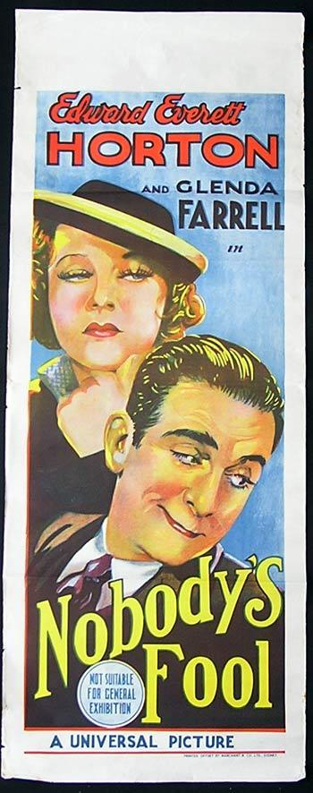 NOBODY'S FOOL Long Daybill Movie Poster Edward Everett Houghton Long Daybill poster