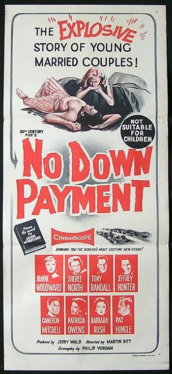 NO DOWN PAYMENT Joanne Woodward Daybill Movie poster