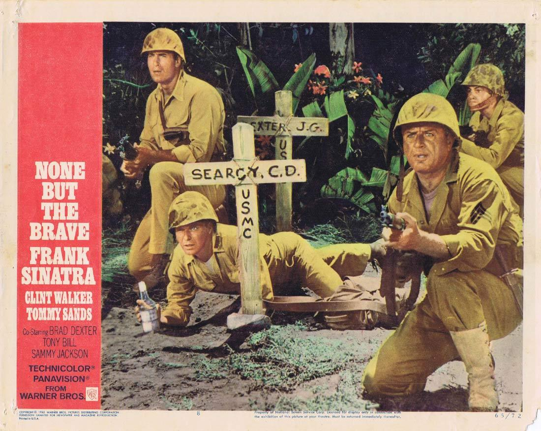 NONE BUT THE BRAVE Lobby Card 8Frank Sinatra Clint Walker Tatsuya Mihashi Tommy Sands