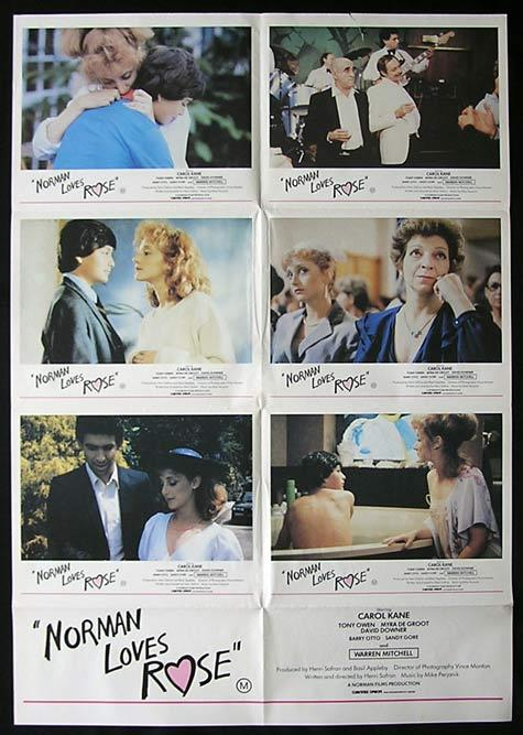 NORMAN LOVES ROSE Movie Poster 1982 Henri Safran Photo Sheet