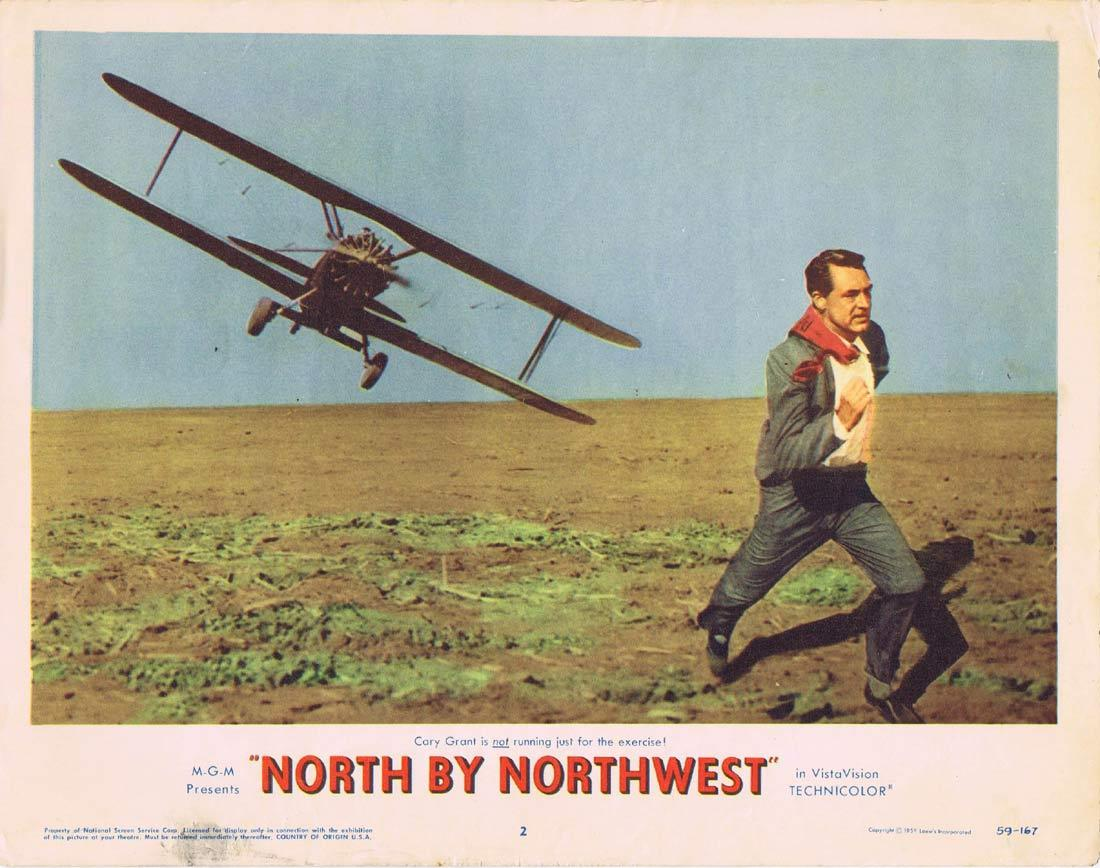NORTH BY NORTHWEST Lobby Card 2 1959 Alfred Hitchcock Cary Grant Cropduster