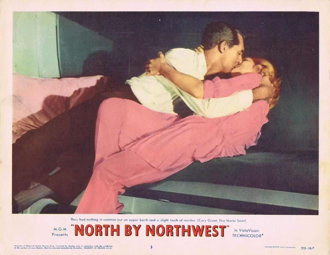 NORTH BY NORTHWEST Lobby Card 3 1959 Alfred Hitchcock Cary Grant