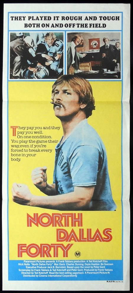 NORTH DALLAS FORTY Original Daybill Movie Poster Nick Nolte Mac Davis Charles Durning