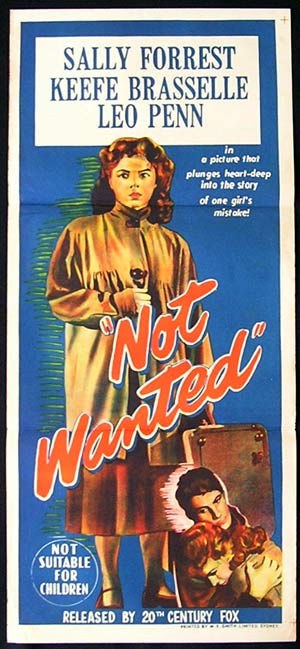 NOT WANTED Daybill Movie poster Saly Forrest Keefe Braselle