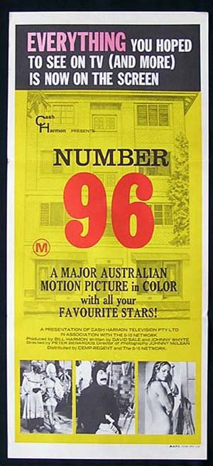 NUMBER 96 Australian TV Classic! 1974 ORIGINAL Daybill Movie poster