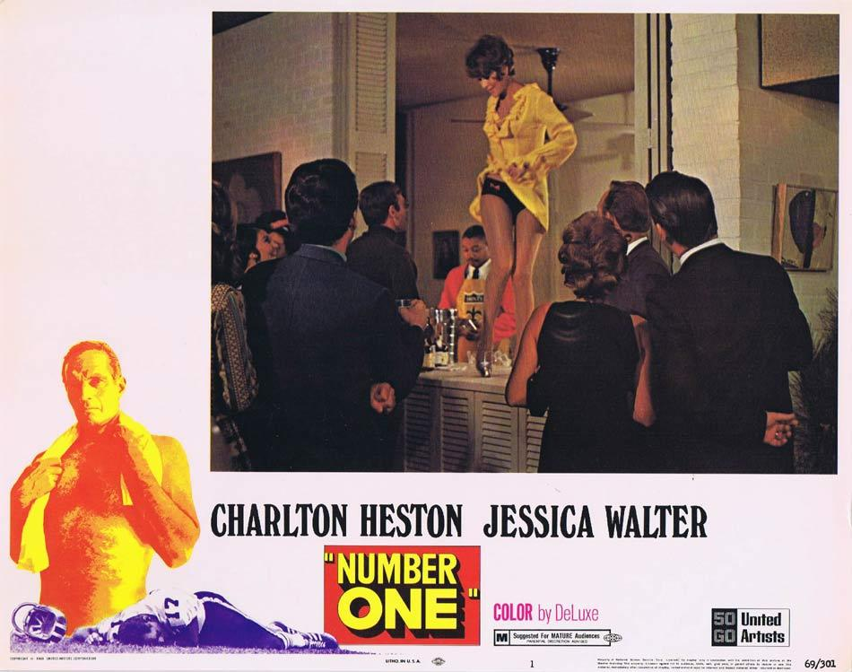 NUMBER ONE Lobby Card 1 Charlton Heston Jessica Walter Bruce Dern