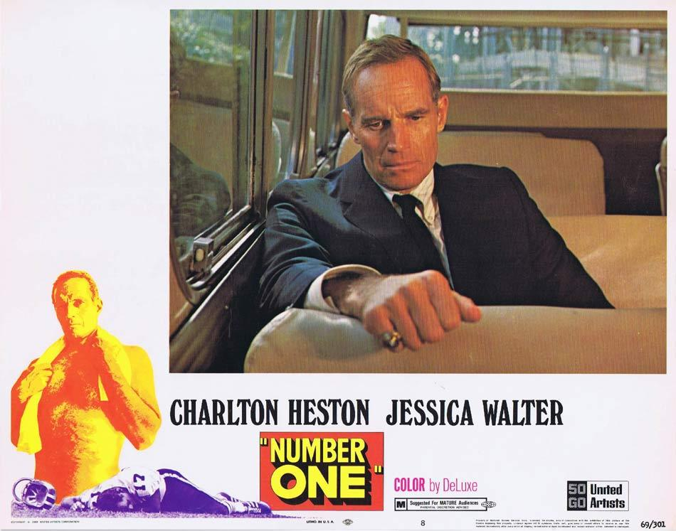 NUMBER ONE Lobby Card 8 Charlton Heston Jessica Walter Bruce Dern