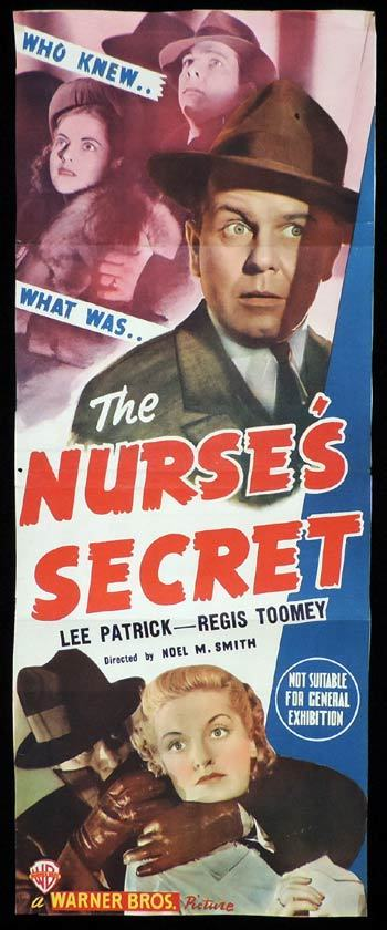 THE NURSE'S SECRET Long Daybill Movie poster Lee Patrick Regis Toomey