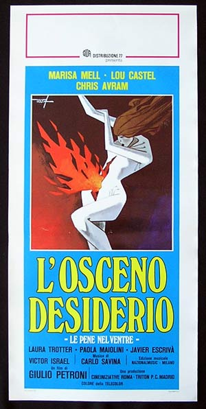 OBSCENE DESIRE Original Locandina Movie Poster Marisa Mell