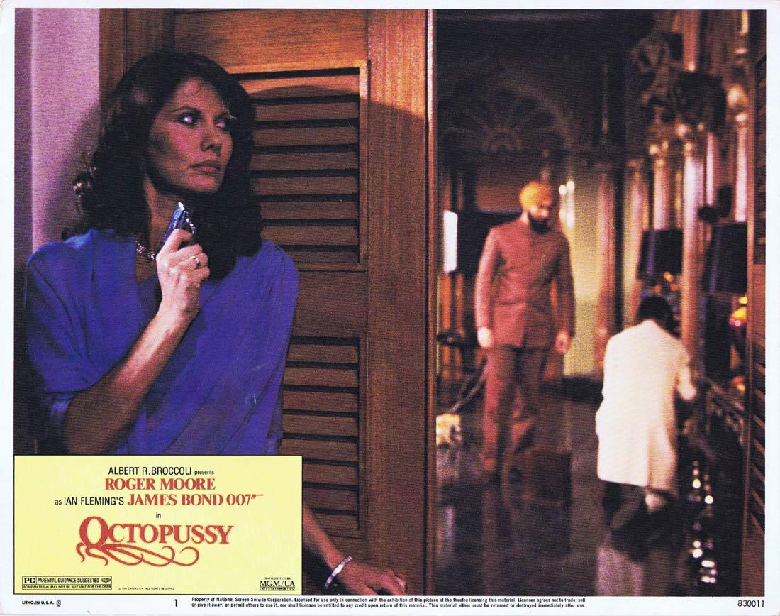 OCTOPUSSY Original US Lobby Card 1 Roger Moore James Bond 1983