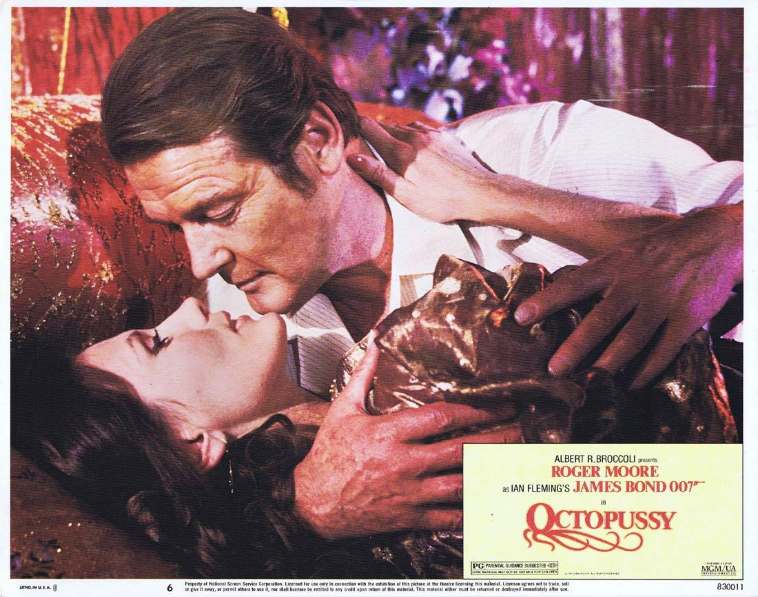OCTOPUSSY Original US Lobby Card 6 Roger Moore James Bond 1983