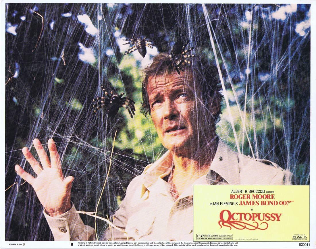 OCTOPUSSY Original US Lobby Card 8 Roger Moore James Bond 1983