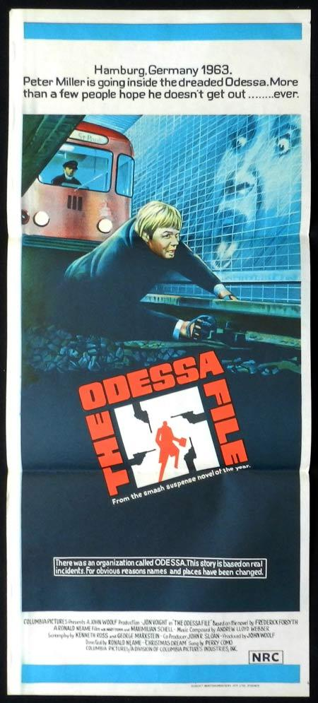 THE ODESSA FILE Original Daybill Movie Poster Jon Voight Maximilian Schell Maria Schell