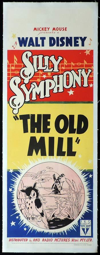 THE OLD MILL Silly Symphony Long Daybill Movie poster 1937 Disney