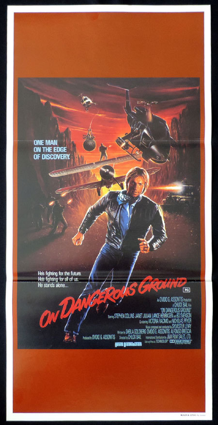 ON DANGEROUS GROUND Original Daybill Movie Poster Stephen Collins Bo Svenson
