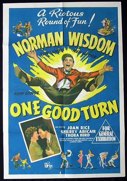 ONE GOOD TURN One Sheet Movie Poster Norman Wisdom