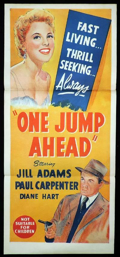 ONE JUMP AHEAD Daybill Movie Poster Paul Carpenter Film Noir
