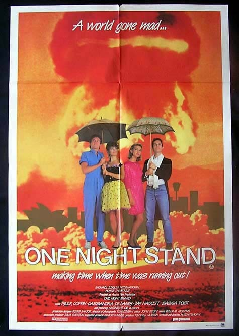 ONE NIGHT STAND 1984 Movie Poster John Duigan Australian One sheet Movie poster