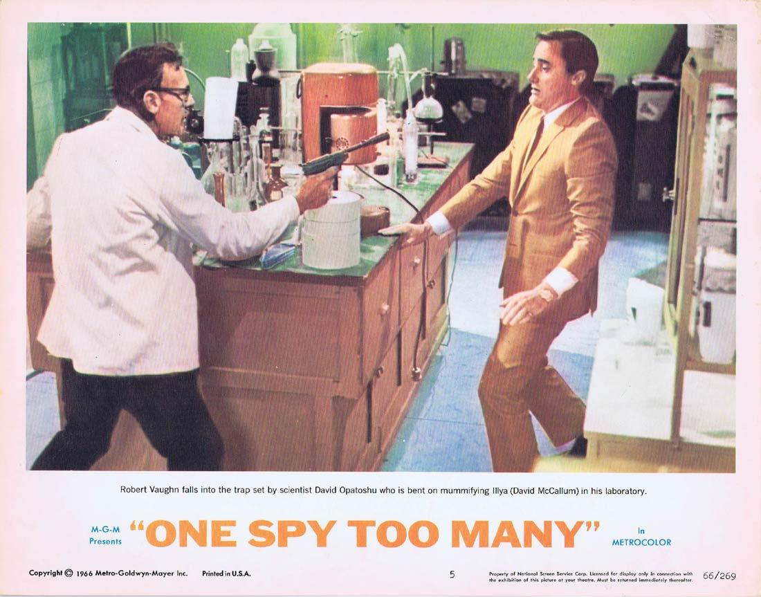 ONE SPY TOO MANY Lobby Card 5 MAN FROM UNCLE Robert Vaughn David McCallum