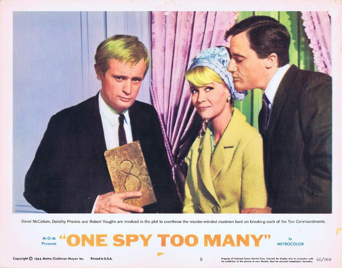 ONE SPY TOO MANY Lobby Card 8 MAN FROM UNCLE Robert Vaughn David McCallum