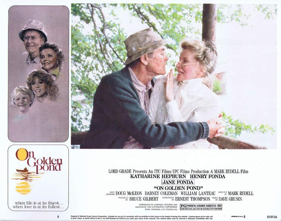 ON GOLDEN POND Lobby Card 8 Katharine Hepburn Henry Fonda Jane Fonda