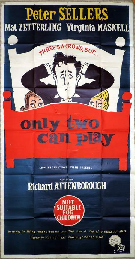 ONLY TWO CAN PLAY Original 3 Sheet Movie Poster Peter Sellers