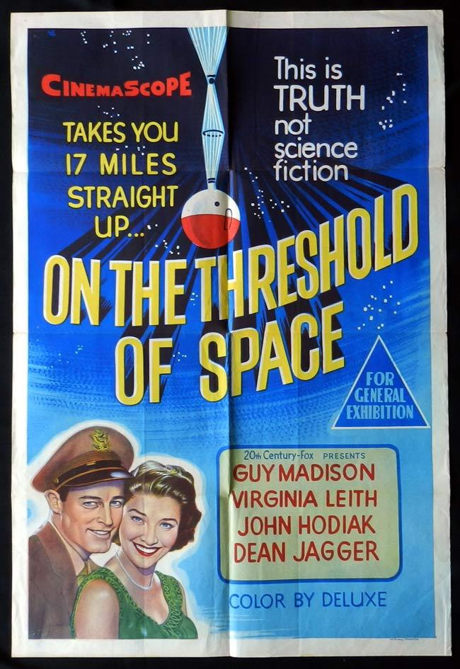 ON THE THRESHOLD OF SPACE One Sheet Movie Poster Guy Madison Science Fiction