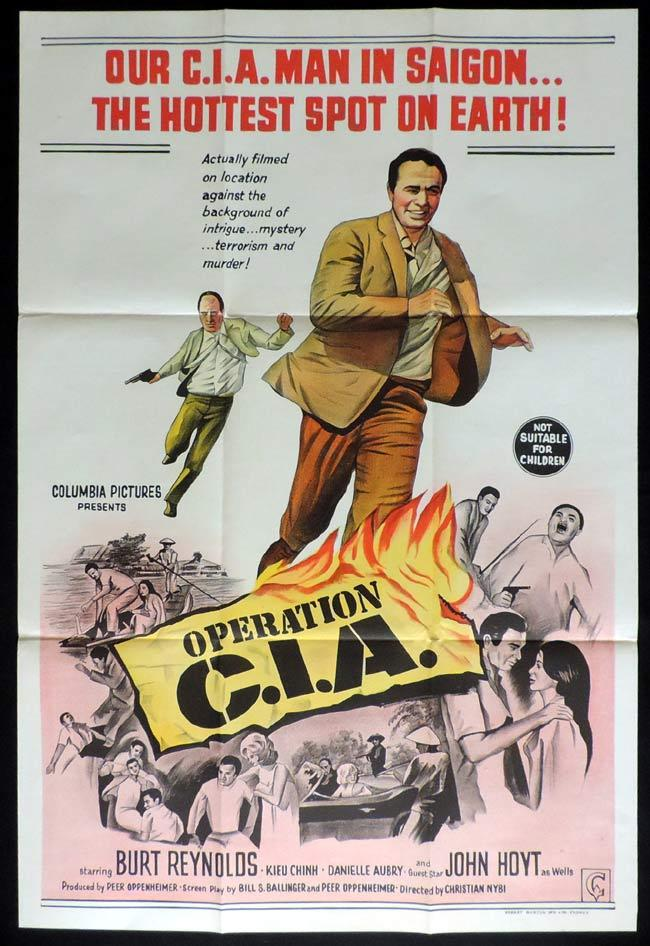 OPERATION CIA One Sheet Movie Poster Burt Reynolds