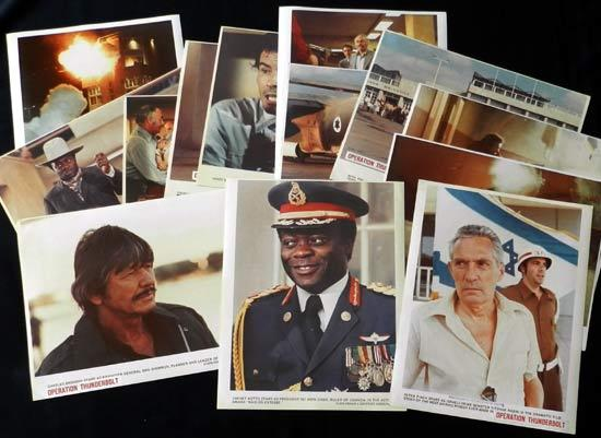 RAID ON ENTEBBE aka OPERATION THUNDERBOLT Bronson Peter Finch Kotto Lobby Card set