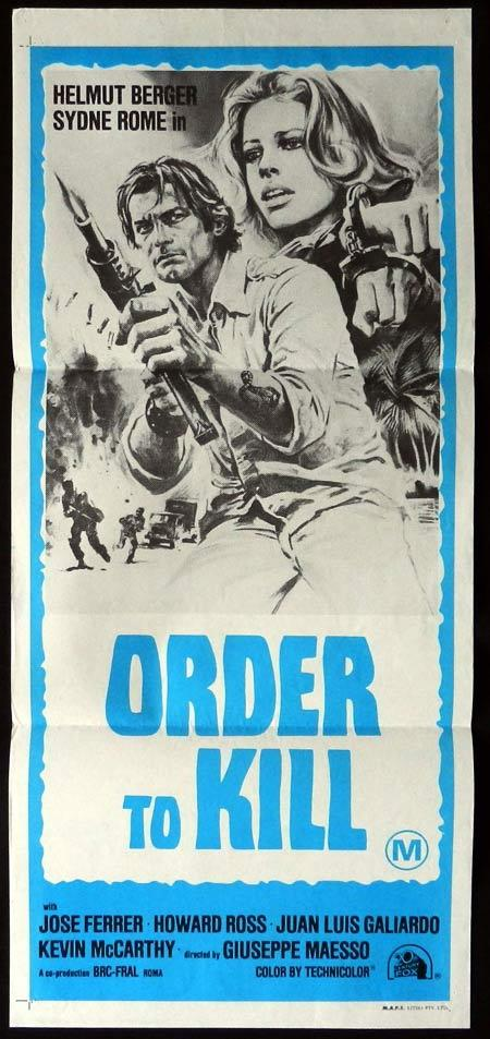 ORDER TO KILL Original Daybill Movie Poster Sydne Rome Helmut Berger