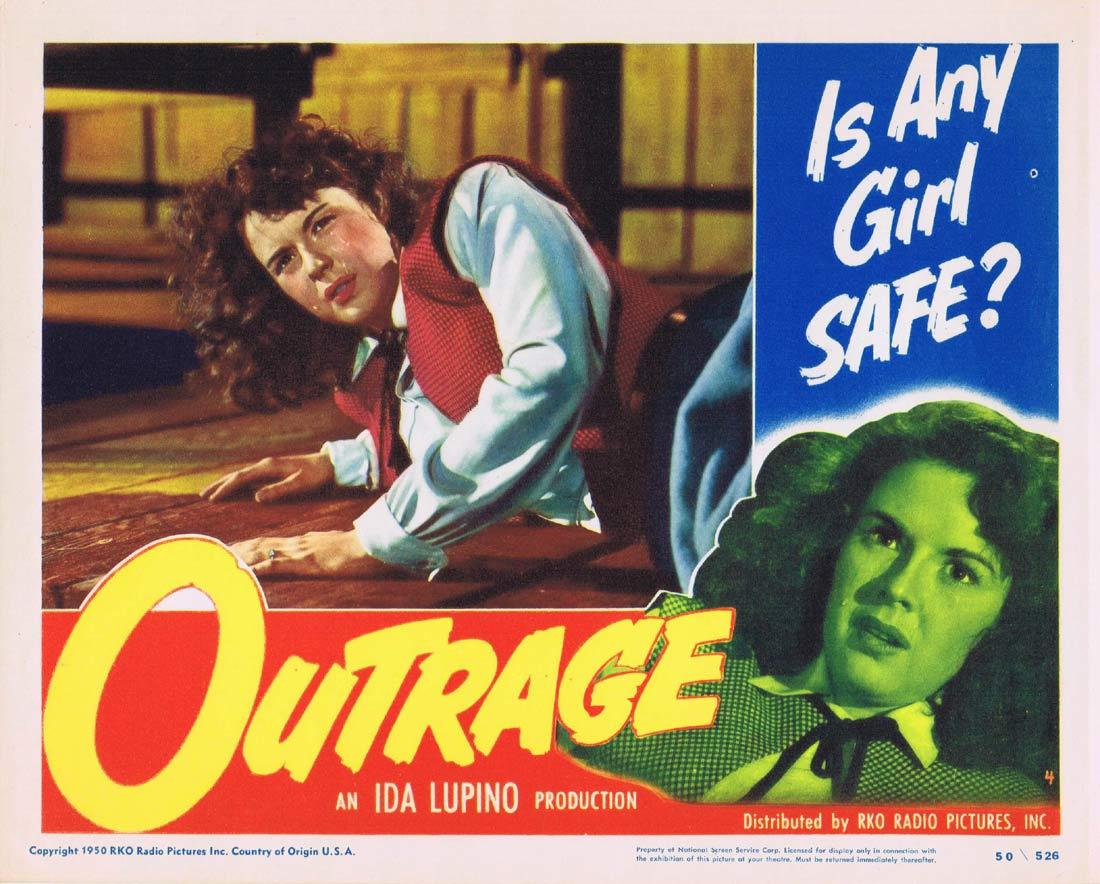 OUTRAGE Lobby Card Mala Powers Tod Andrews Robert Clarke