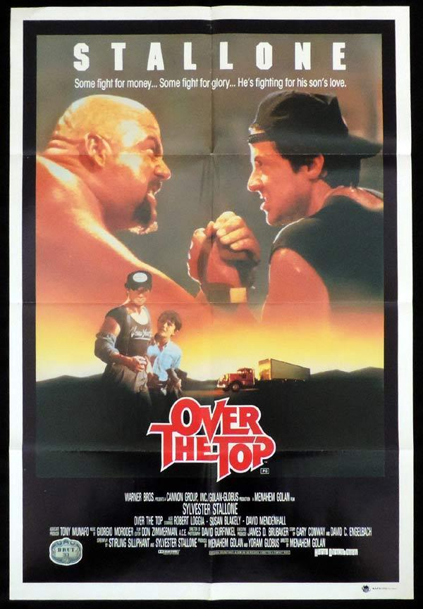 over the top one sheet movie poster sylvester stallone