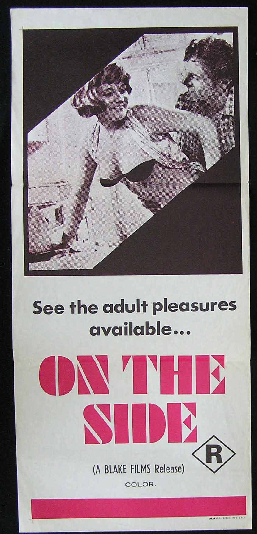 ON THE SIDE '70s Sexploitation Movie Poster '70s Prison Bad Girls Sexploitation Movie Poster