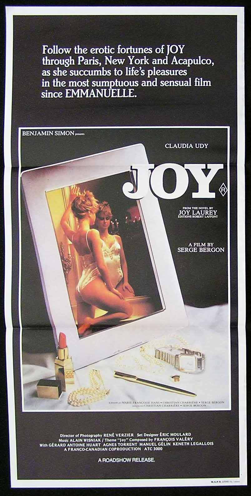 JOY '83 Claudia Udy Sexploitation Movie Poster