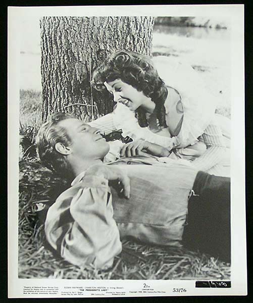 THE PRESIDENT'S LADY '53 Charlton Heston Susan Hayward RARE Original Movie Still #6