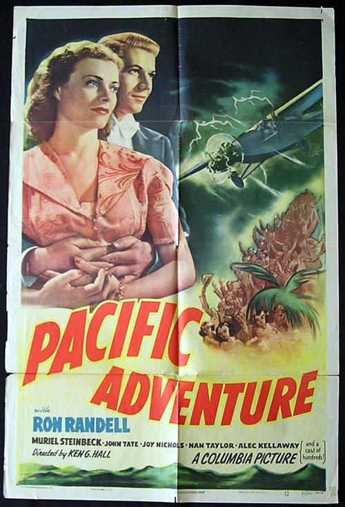 SMITHY aka PACIFIC ADVENTURE Movie Poster 1946 Ken G. Hall KINGSFORD SMITH Rare Original US One sheet