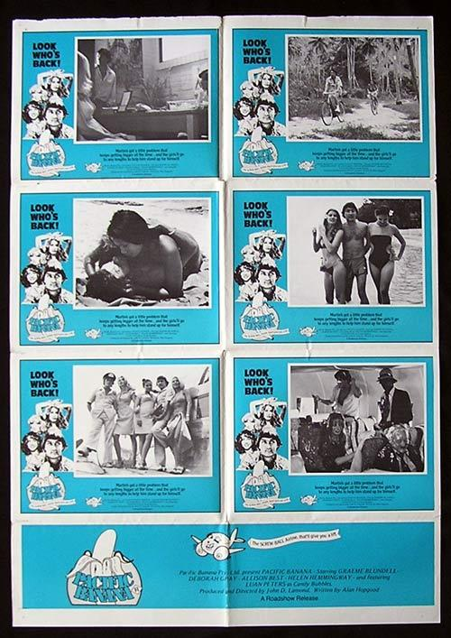 PACIFIC BANANA '81 John Lamond GRAEME BLUNDELL Rare Photo Sheet poster
