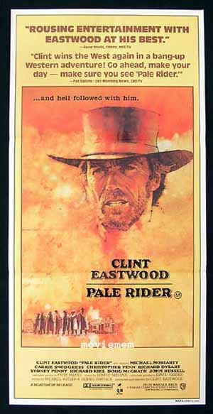 PALE RIDER Daybill Movie Poster 1985 Clint Eastwood Dudash Art
