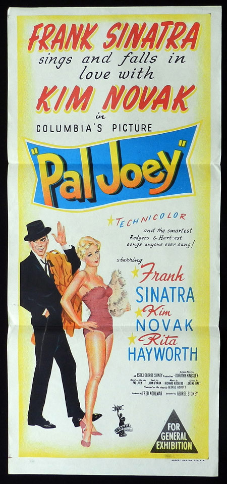 PAL JOEY Original Daybill Movie poster Frank Sinatra Kim Novak