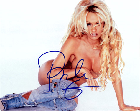 PAMELA ANDERSON Autograph 8 x 10 Photo
