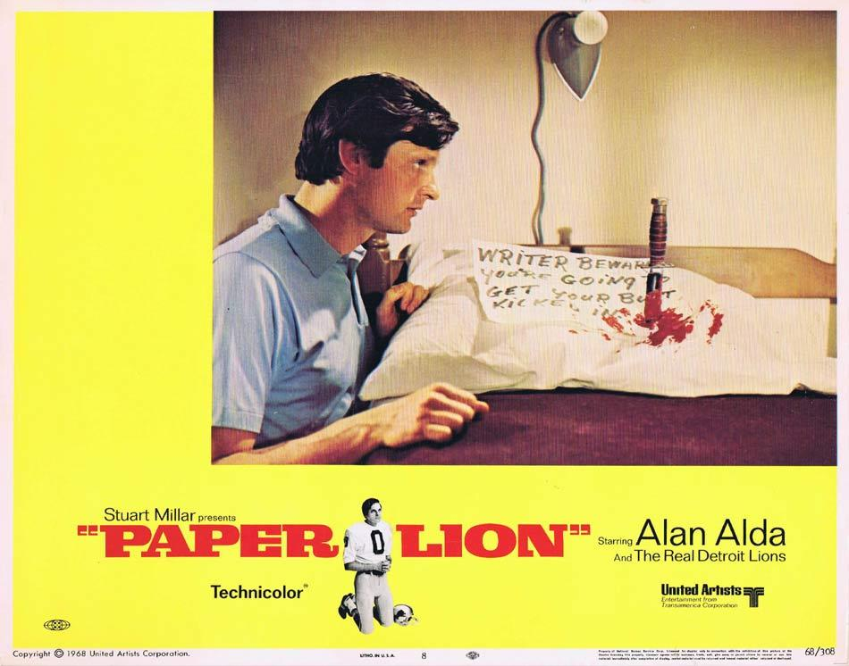 PAPER LION Lobby Card 8 Alan Alda as writer George Plimpton