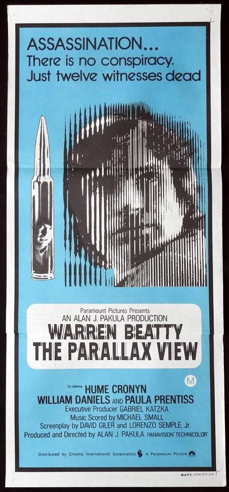 THE PARALLAX VIEW Daybill Movie Poster Warren Beatty Hume Cronyn