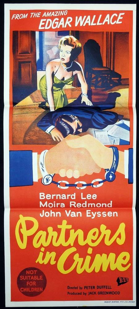 PARTNERS IN CRIME Original Daybill Movie Poster Edgar Wallace Mystery Theatre Film Noir