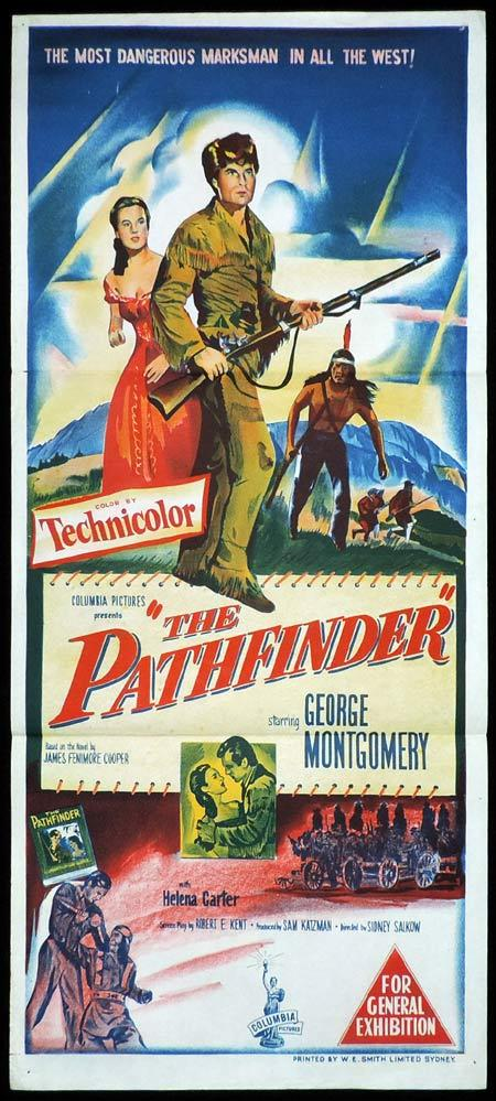 THE PATHFINDER Original Daybill Movie Poster George Montgomery