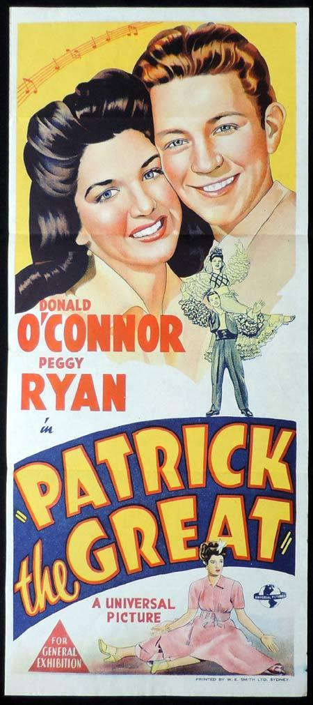PATRICK THE GREAT Original Daybill Movie Poster Donald O'Connor Peggy Ryan